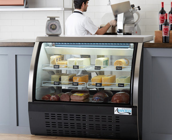 commercial serve over counter refrigerator