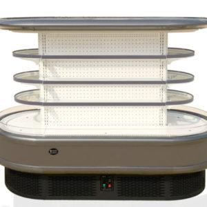 17HR Arc mini island display cabinet freezer