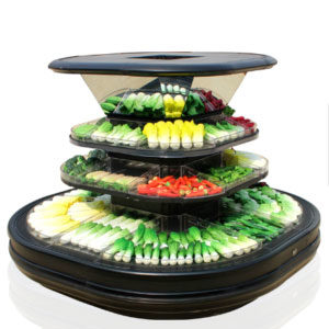 18BZ Bundle Pillar Display Cabinet for Vegetables Fruit