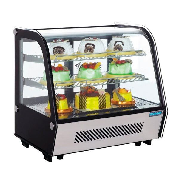 deli-food-display-case Classic Commercial Curved Glass Deli Food Service Counter Refrigerated Case Display Freezer